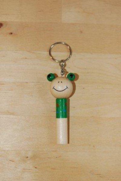 画像3: チェコ 木のおもちゃ ホイッスル アニマルキーホルダー