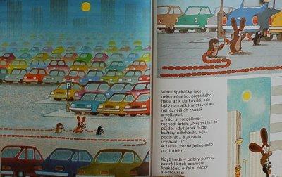 画像2: 東欧 チェコの絵本  もぐらの クルテク 「KRTEK VE MESTE / 町にいってしまった もぐらくんたち」