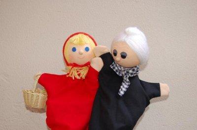 画像3: チェコのおもちゃ マペット人形 赤ずきんちゃん
