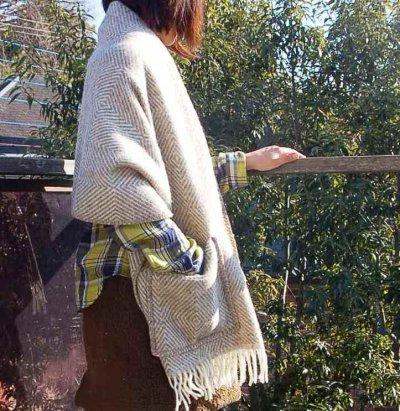 画像2: 北欧 フィンランド LAPUAN KANKURIT 《ラプアン カンクリ》 ショール Shawl with pocket  「MARIA Shawl 」〜GRAY グレー