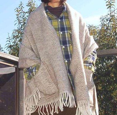 画像1: 北欧 フィンランド LAPUAN KANKURIT 《ラプアン カンクリ》 ショール Shawl with pocket  「MARIA Shawl 」〜GRAY グレー