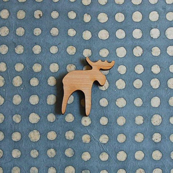 画像1: 北欧雑貨  SKANDINAVISK 《スカンジナヴィクス.H》 木製マグネット《エルク》 (1)
