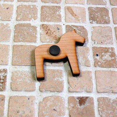 画像1: 北欧雑貨  SKANDINAVISK 《スカンジナヴィクス.H》 木製マグネット《ダーラナホース》